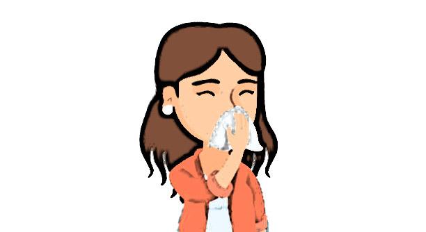 حساسية الأنف للحامل   حكة، دموع، نوبات عطس