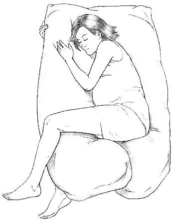 وضعيات نوم الحامل