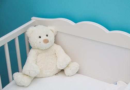 التقلب أثناء النوم للطفل في الشهر السادس