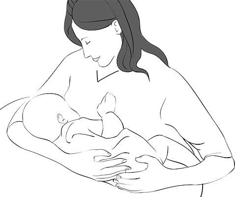 عض الطفل لحلمة الثدي في الشهر السابع