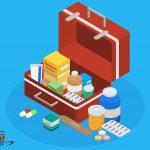 أدوات السلامة وصندوق الإسعافات الأولية المنزلي