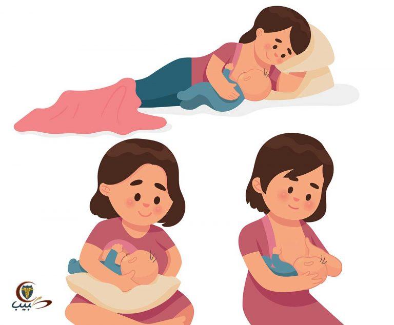 أساليب الرضاعة الطبيعية والعناية بالحلمة