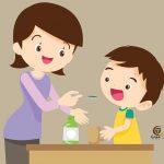 إعطاء الدواء الطفل